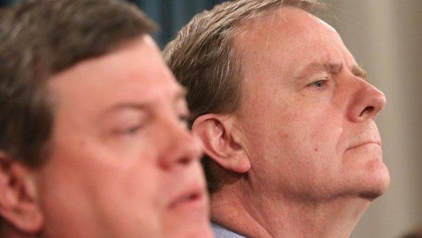 Treasurer Tim Nicholls defends Commission of Audit chairman Peter Costello