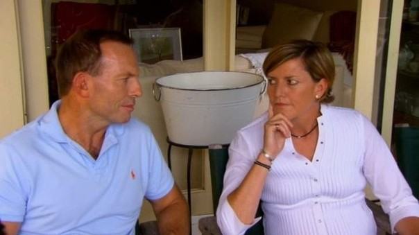 Tony Abbott and sister Christine Forsterin. Photo: 60 Minutes