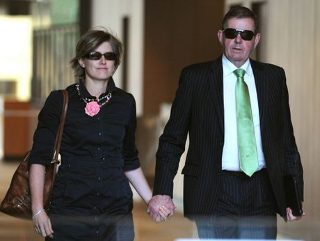 Peter Slipper and his wife Inge leave the Federal Court in Sydney.